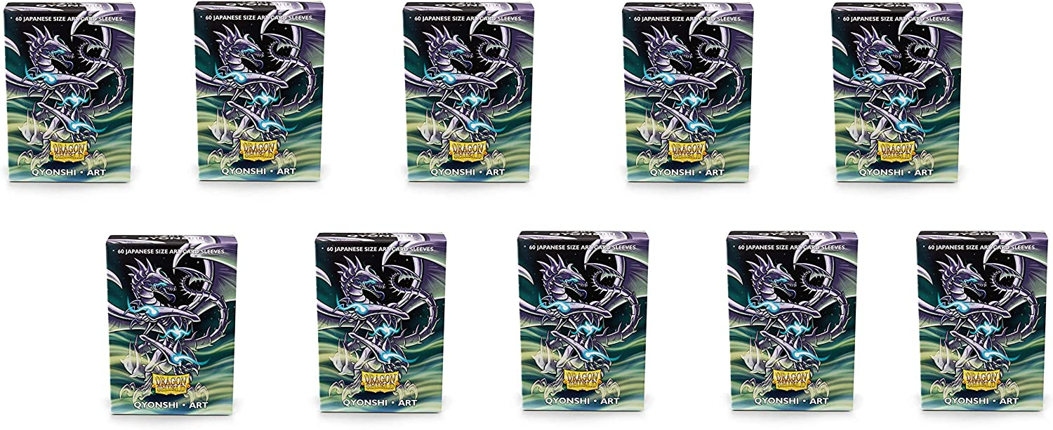 10 Packs Dragon Shield Classic Mini Japanese Art Qyonshi 60 ct Card Sleeves Display Case 81WrsuLPcmL