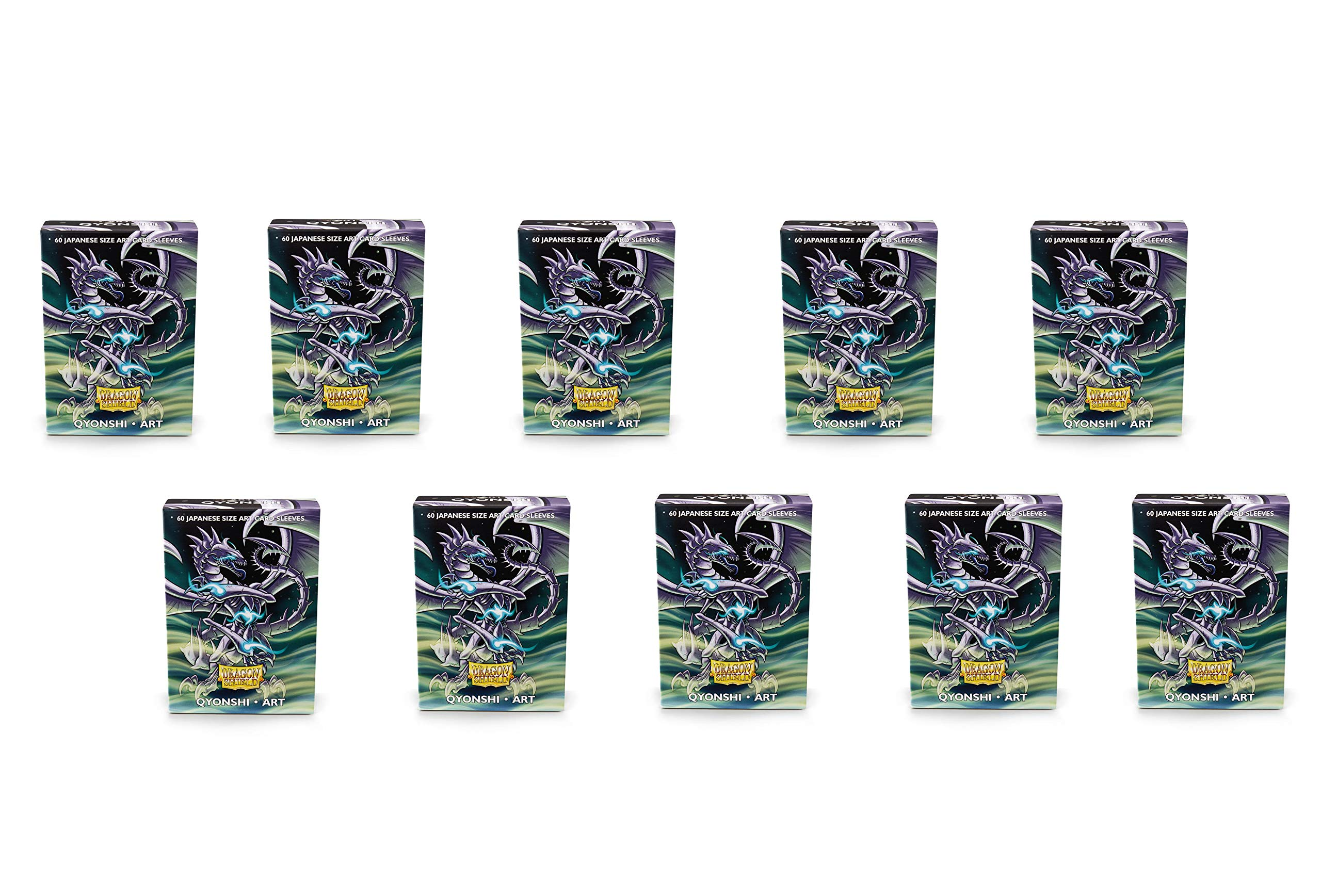 10 Packs Dragon Shield Classic Mini Japanese Art Qyonshi 60 ct Card Sleeves Display Case