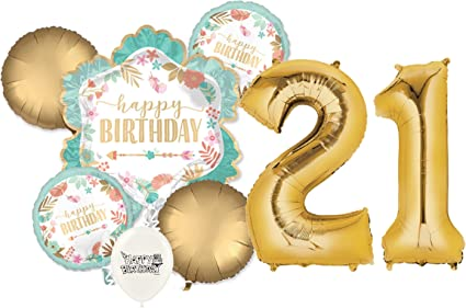 "Anagram HAPPY 21st BIRTHDAY 21 Today Boy Girl Round Foil Helium Balloon 18/"""