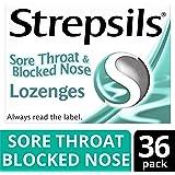 Strepsils Sore Throat and Blocked Nose Lozenges, 36 Lozenges