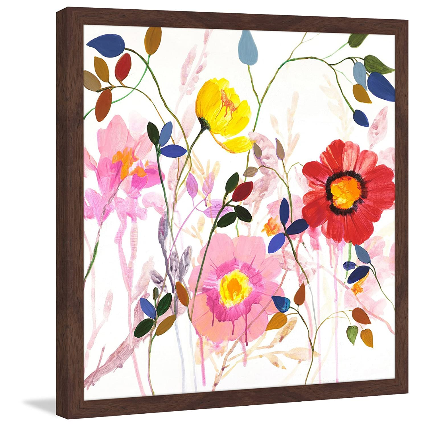 Marmont Hill Woodland Garden by Julie Joy Framed Painting Print 24x24 Multicolor