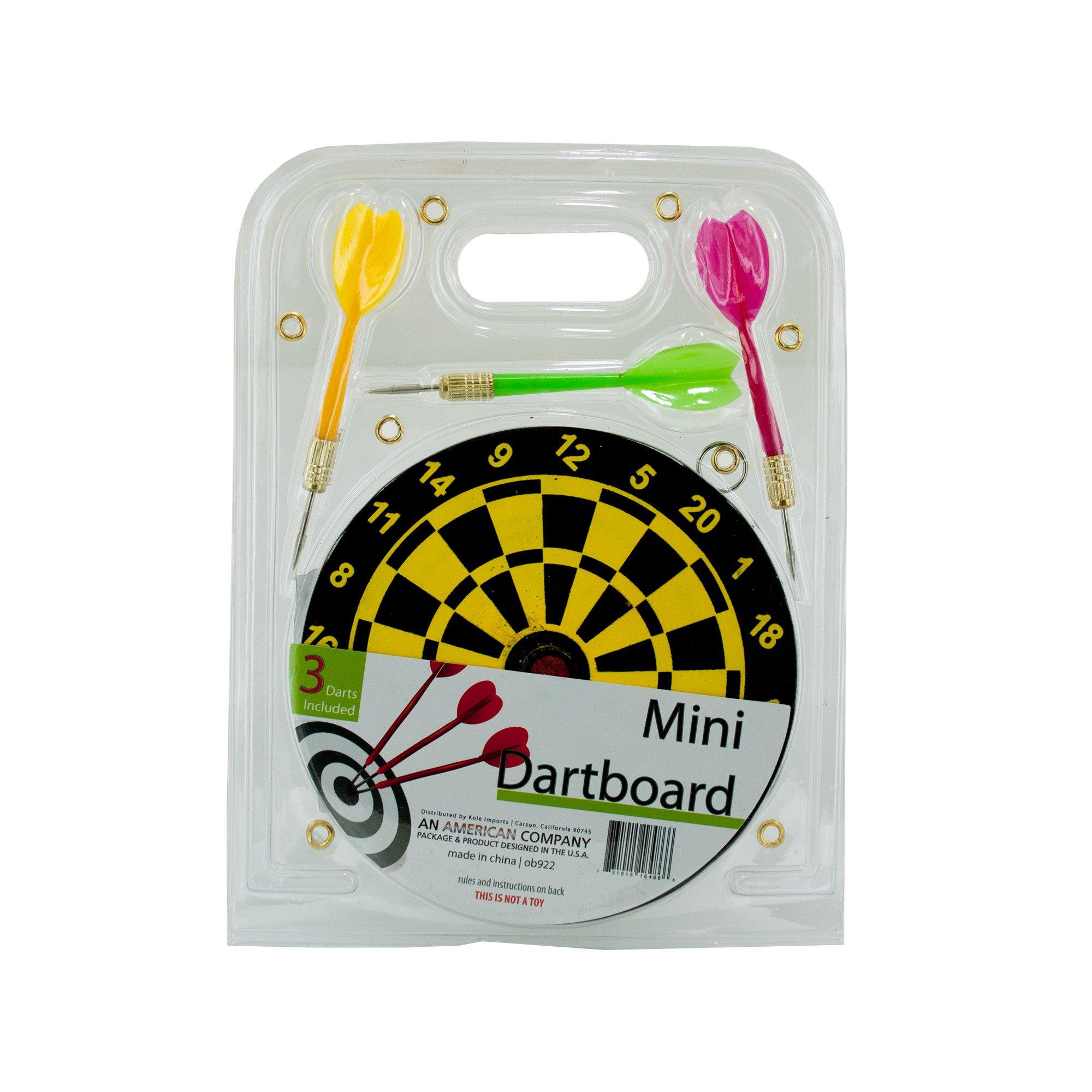 123-Wholesale - Set of 24 Mini Dartboard Set - Games Kids Games