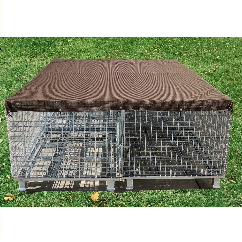 8 x 8, Beige Tan Alion Home Sun Block Dog Run /& Pet Kennel Shade Cover Dog Kennel not Included Hems /& Grommets