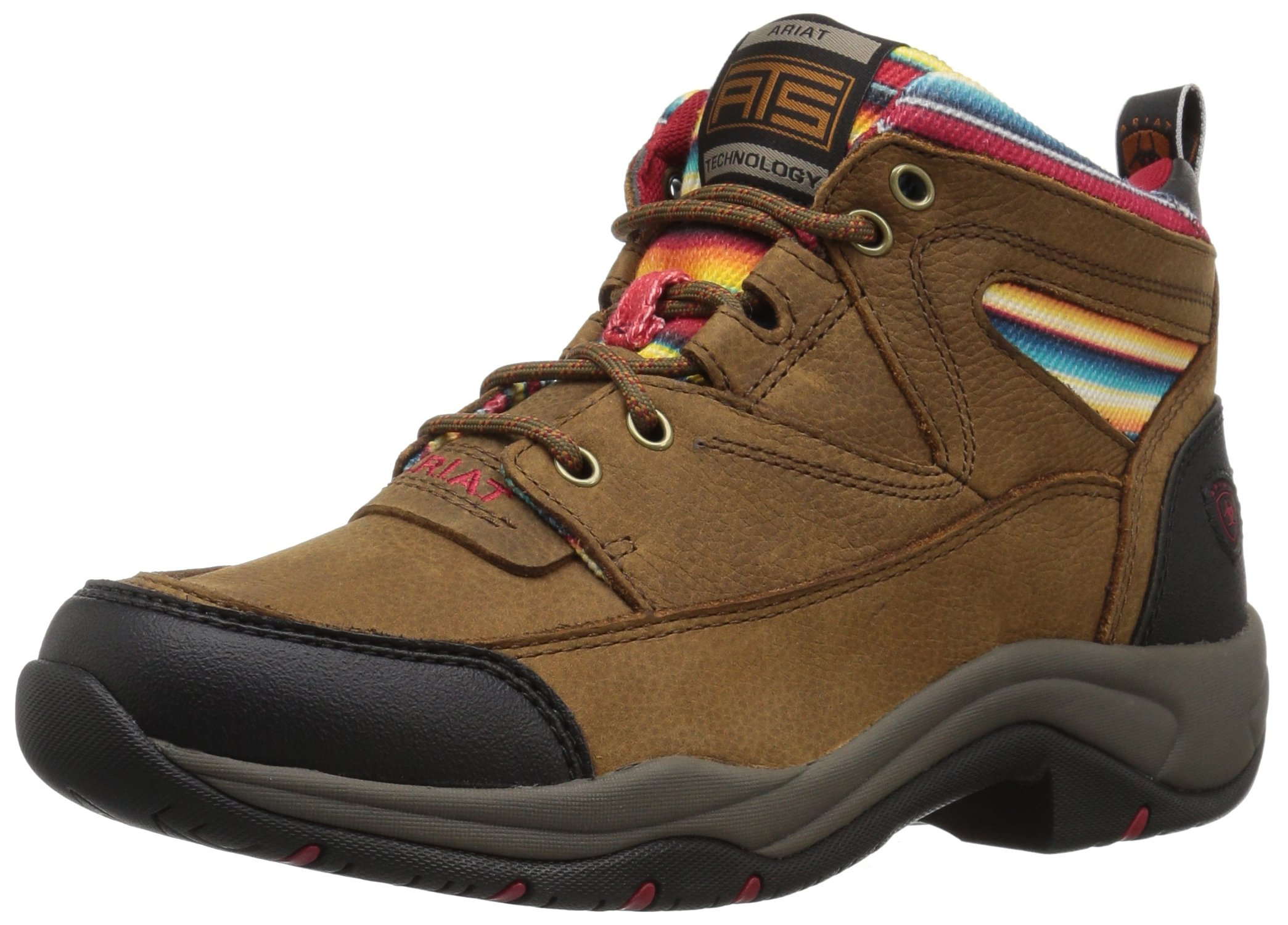 Ariat Women's Terrain Work Boot, Walnut/Serape, 8.5 B US
