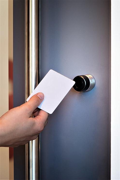 Funciona con pilas cerradura de puerta electrónica Sorex Smart Digital talzy Linder 30 mm interior/