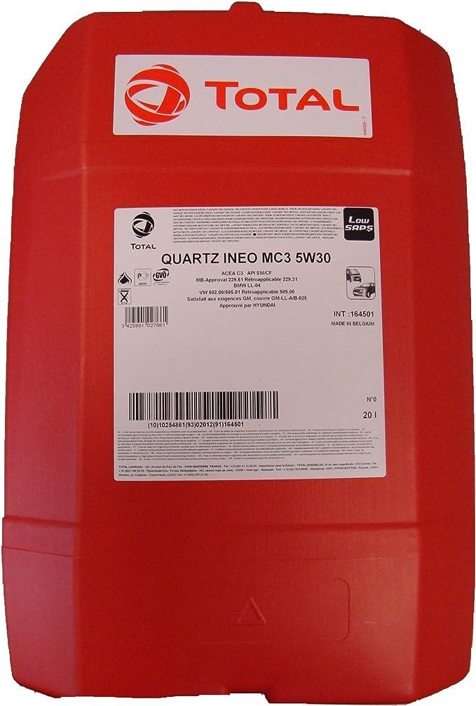 Quartz Ineo 20 Liter Total Mc3 5w 30 Auto