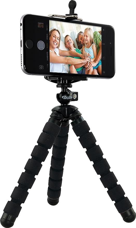 Rollei Selfie Mini Tripod - Minitrípode para cámara, ActionCam y Smartphone, Capacidad MAX.: 1,2 kg, Color Negro: Amazon.es: Electrónica