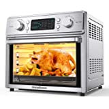 HomeRusso 24-in-1 Air Fryer Oven, 26.3 Quart Large Convection Toaster Oven Countertop Stainless Steel with Rotisserie and Foo
