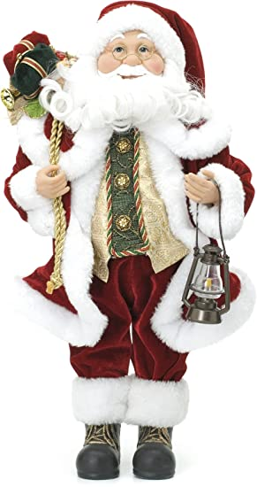 Christmas Decorations - 45cm Standing Father Christmas Soft Toy ...
