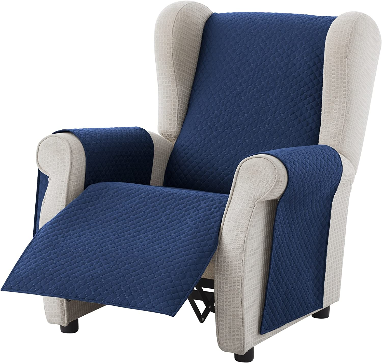 Couleur Grey Taille 1 Places Housse Fauteuil Relax Adele Housse Matelasse R/éversible Protecteur Textilhome