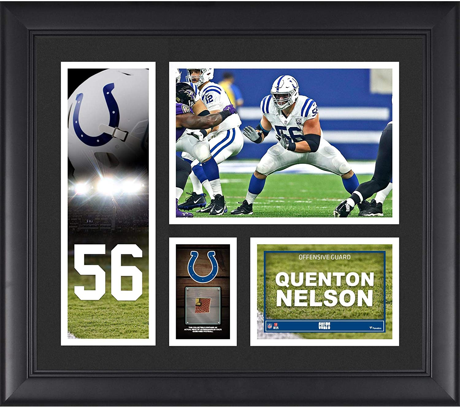new concept 8af23 3ddf9 Amazon.com: Quenton Nelson Indianapolis Colts Framed 15