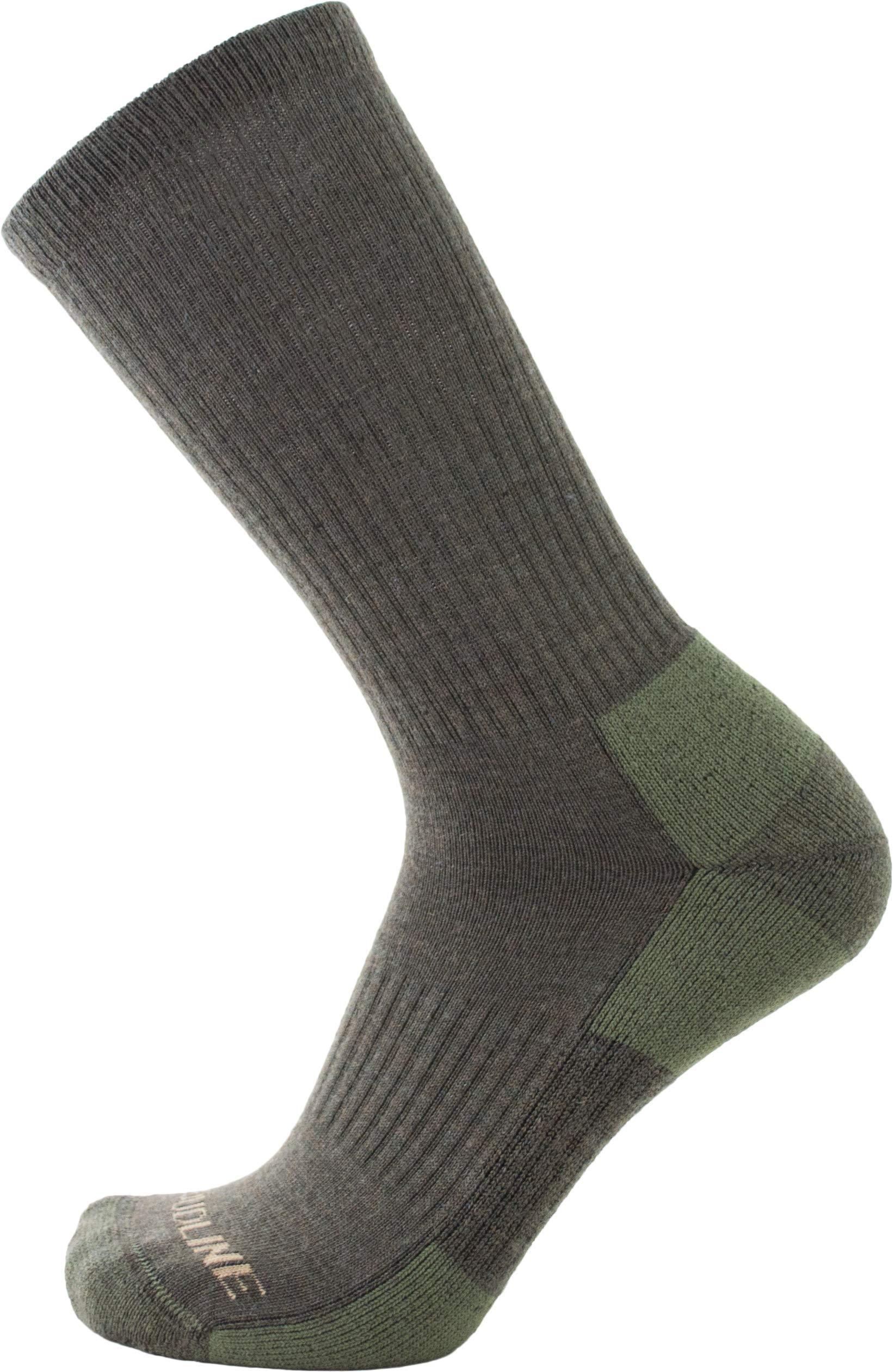 CloudLine Merino Wool Tactical Military Hiking Socks - for Men & Women - Medium Green