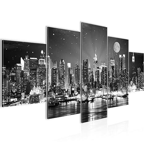 Wanddeko Bild Bilder Wandbild XXL Kunstdruck New York Leinwand aus Vlies