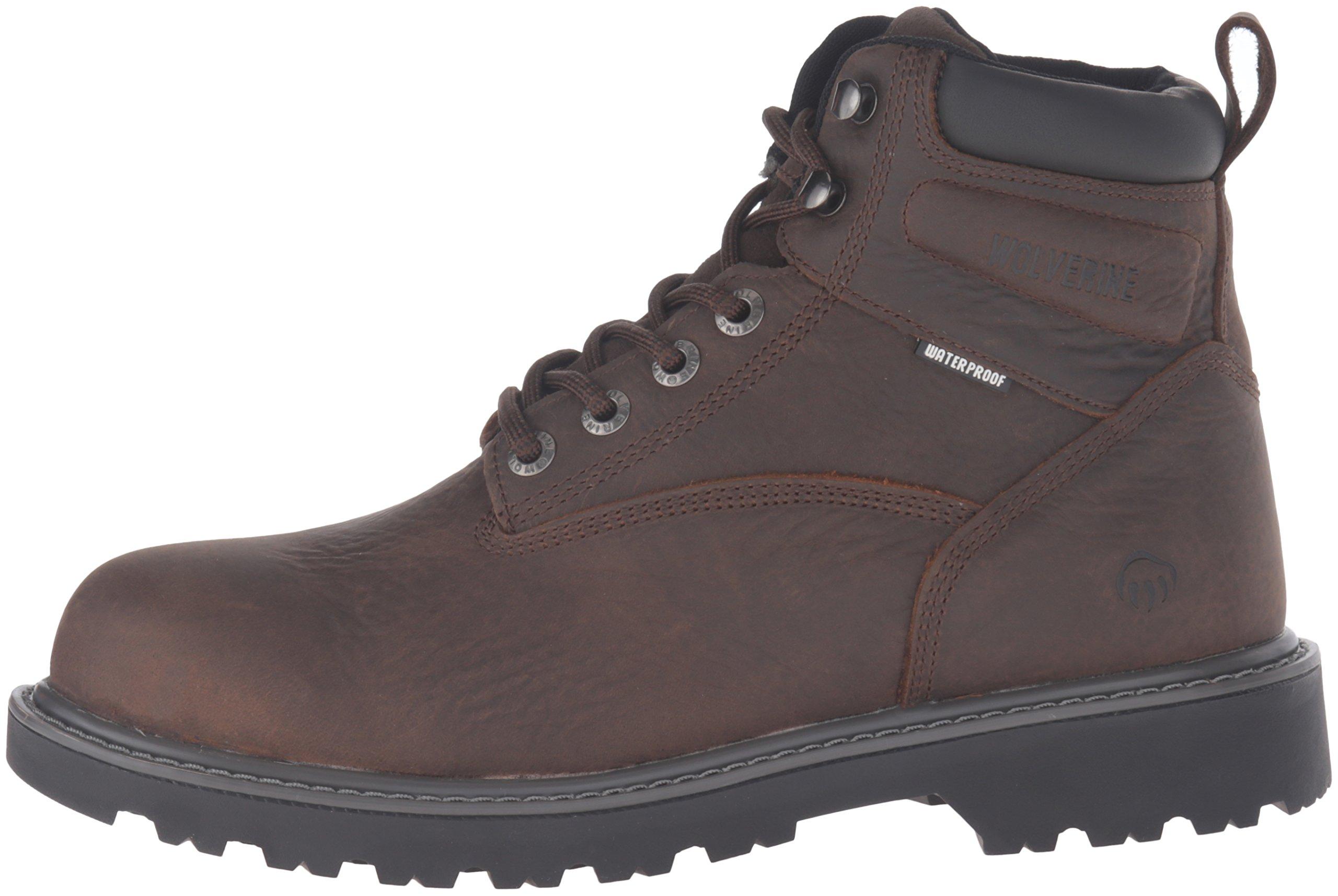 Wolverine Men's Floorhand 6 Inch Waterproof Steel Toe Work Shoe, Dark Brown, 9.5 M US by Wolverine (Image #5)