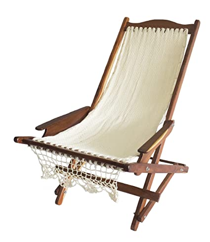 Admirable Wood Mayan Hammock Rocking Chair Beach Chair In Nylon Hand Made Knit Bralicious Painted Fabric Chair Ideas Braliciousco