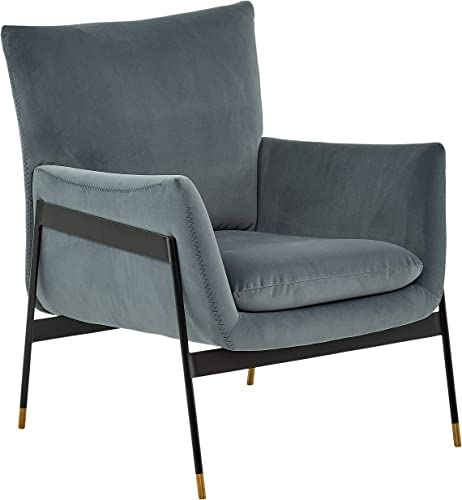 Amazon Brand Rivet Willard Contemporary Accent Lounge Chair, 26 W, Slate