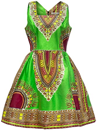 Amazon.com  Shenbolen Woman African Print Dress Dashiki Traditional Dress  Party Dresses  Clothing 2a5ec9494147