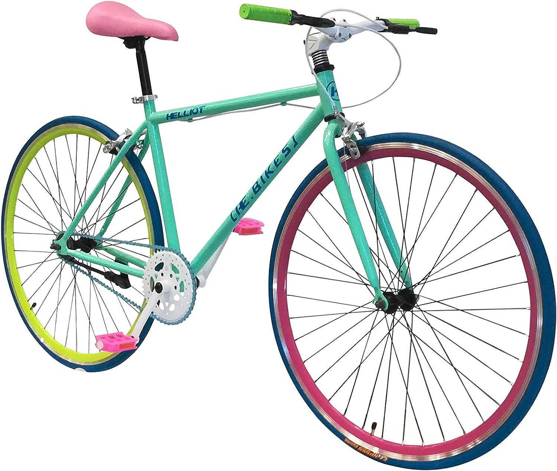 Helliot Bikes Soho 14 - Bicicleta Fixie Urbana, Unisex Adulto, Verde, M-L: Amazon.es: Deportes y aire libre