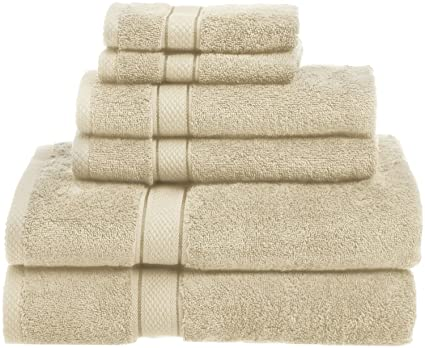 muttermui nueva 100% crema de algodón egipcio, 6 piezas Juego de toalla de mano