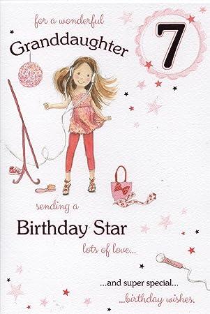 Wonderful Granddaughter 7th Birthday Card Amazon Office
