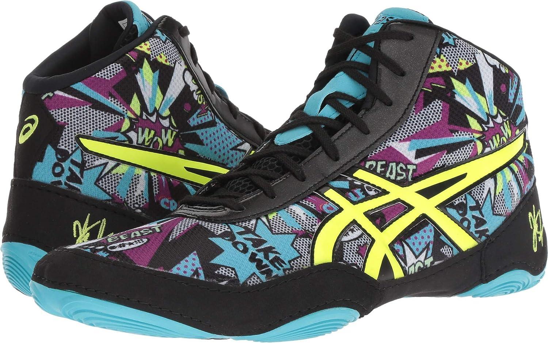 ASICS Men's JB Elite V2.0 Wrestling chaussures, Comic Flash jaune bleu Alt, Taille 10.5  -