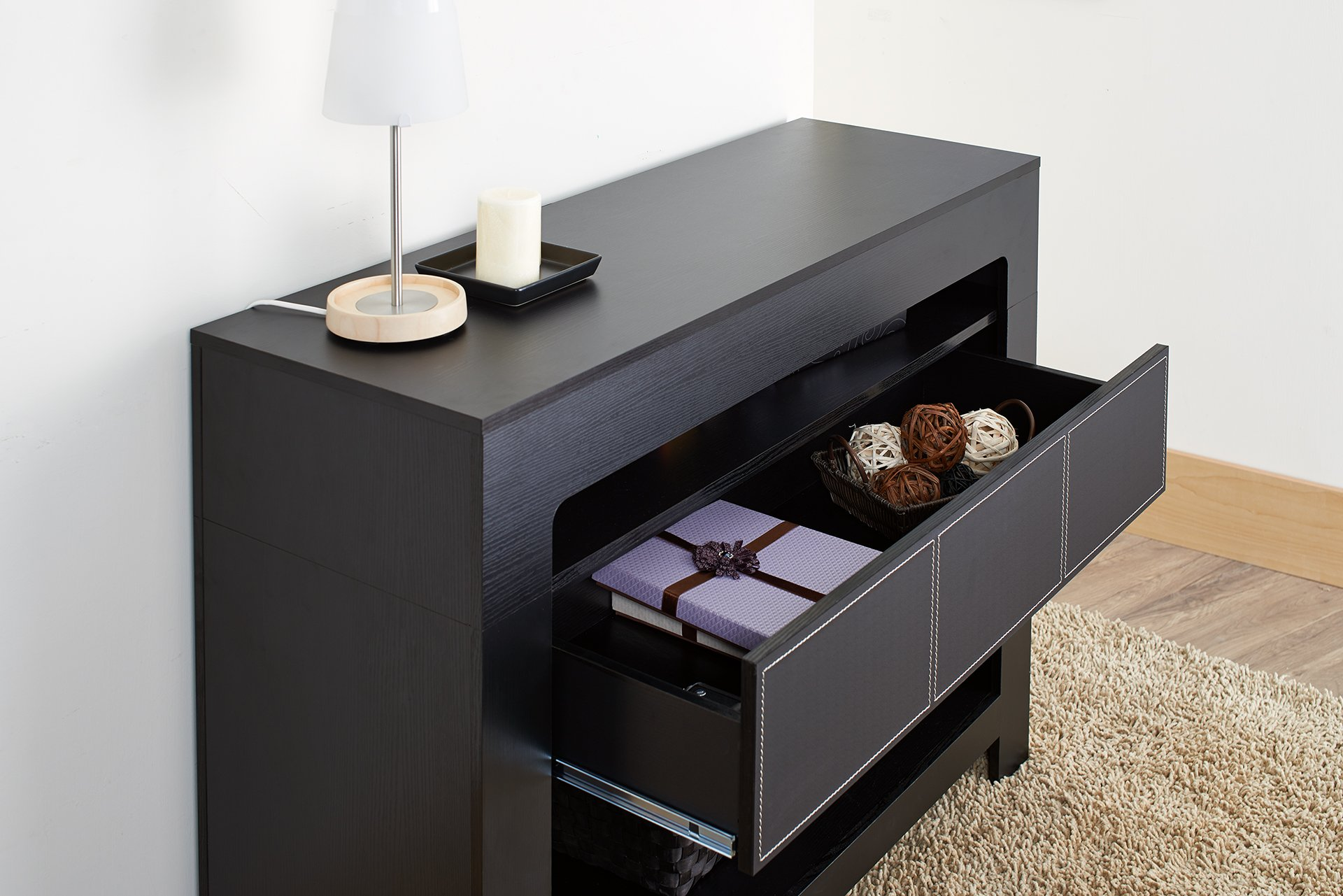 ioHOMES Lado Contemporary Console Table, Black by HOMES: Inside + Out (Image #5)