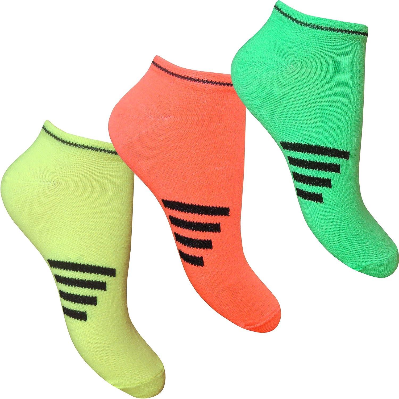 Fluorescent Neon Trainer Liners Socks