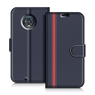 brand new 0a947 30b32 COODIO Motorola Moto G6 Case, Motorola Moto G6 Leather Case, Motorola Moto  G6 Wallet Case, Stylish Magnetic Flip Folio Case Cover [Wallet Stand] Card  ...