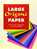 "Large Origami Paper: 24 9"" X 9"" Sheets in 12 Colors"