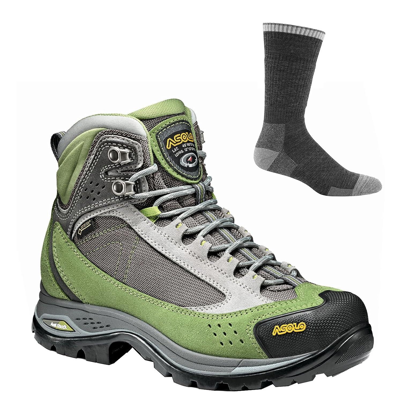 Asolo Women's Nilas GV Hiking Boots B07CGWHQW3 8.5 B(M) US|English Ivy/Silver W/ Socks