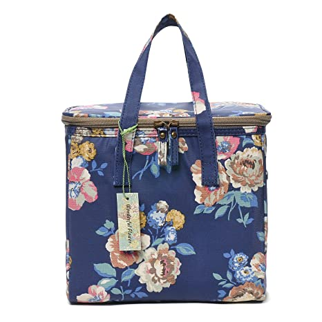 Amazon.com: Wonderful Flower - Bolsa de almuerzo para mujer ...