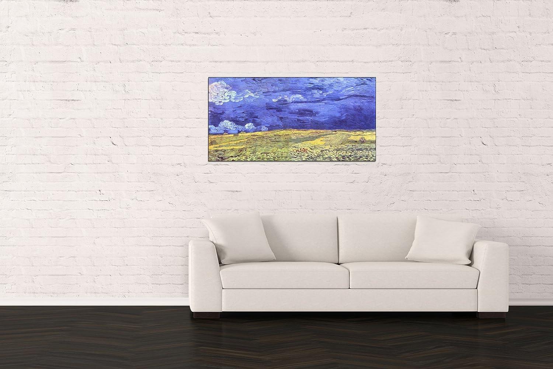ArtPlaza Van Gogh Vincent - Field Under Storm Heaven Panneau Décoratif, Bois, Multicolore, 100 x 1.8 x 50 cmAS91062
