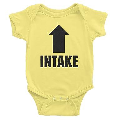 ed2c413c7 ShirtInvaders Intake Exhaust - Funny Infant Baby Gift - Onesie T-Shirt -  Banana