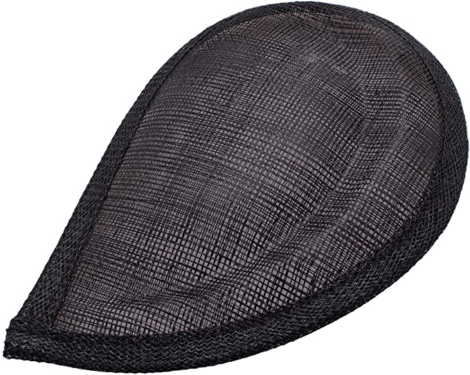 Sinamay Gathered Shaped Fascinator and Hat Base for Fascinators and Millinery Choc HA057