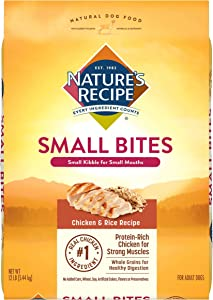 Nature's Recipe Small Bites Dry Dog Food for Small Breeds, Chicken & Rice