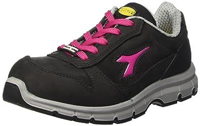 Diadora - Run Low S3, zapatos de trabajo Unisex adulto, Negro (Nero/