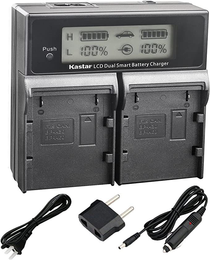 CG-A10 A20 Charger EOS C220B Kastar 2x Fully Decoded Battery BP-A30 EOS C200B EOS C300 Mark II EOS C500 C700 Canon XF705 Canon EOS C200 LCD Rapid Charger for Canon BP-A30 BP-A60 BP-A90 Battery