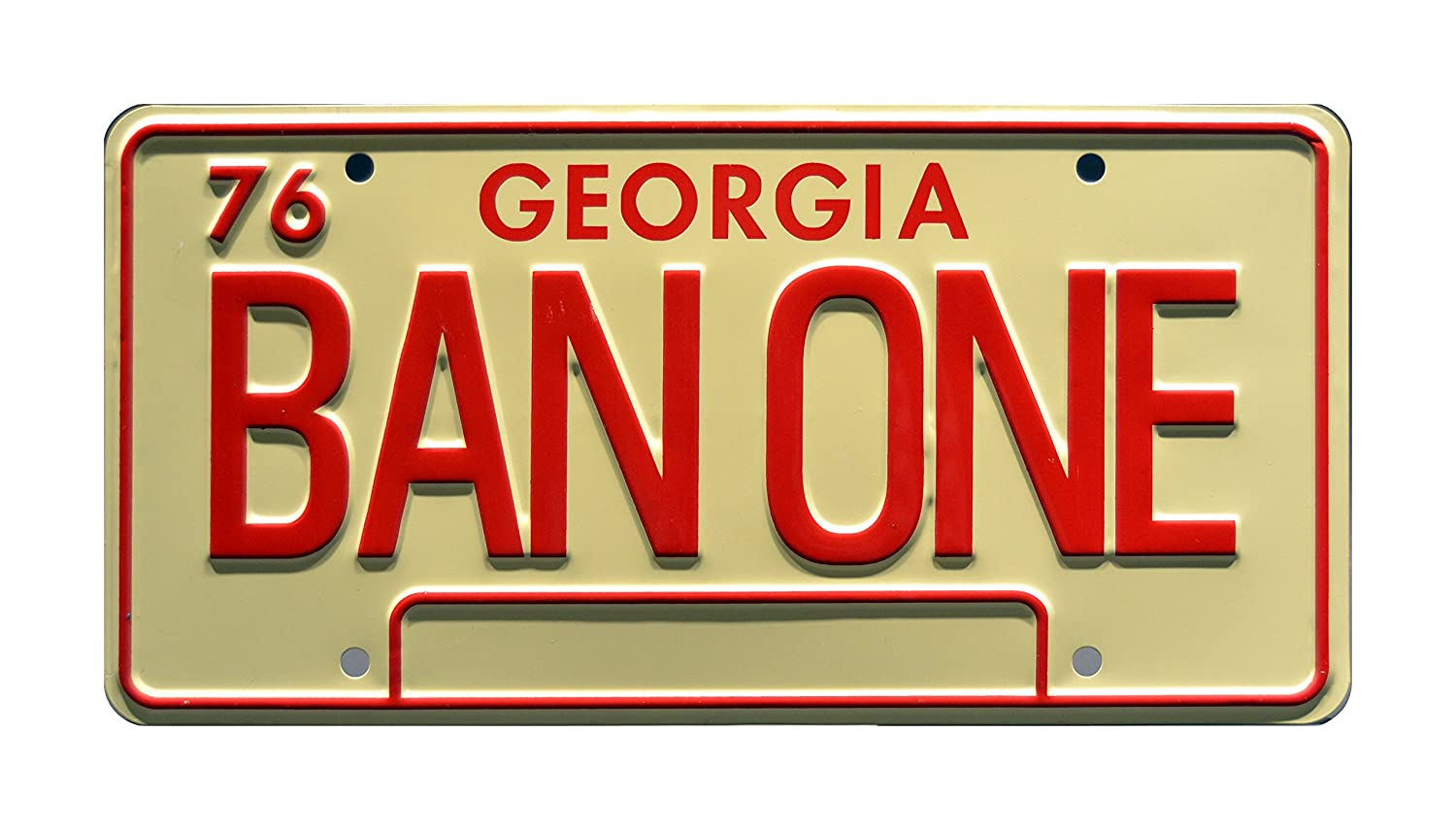 Celebrity Machines Smokey and The Bandit | 1977 Trans Am | BAN ONE | Metal Stamped Vanity Prop License Plate