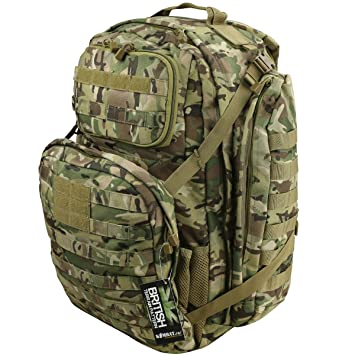 c7a9388f022 Kombat UK Unisex Outdoor Commander Backpack available in British Terrain  Pattern - One Size