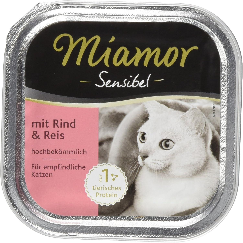Miamor Sensibel Vaca y arroz, 16 Unidades (16 x 100 g)