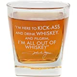 John Wayne Quote Whiskey Cocktail Glass, 10 oz