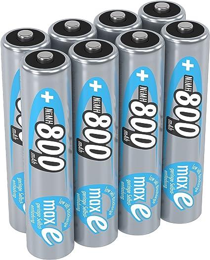 Akku AAA wiederaufladbar SET 8X AKKU 1600mAh NI-MH Batterie rechargeable 8 STÜCK