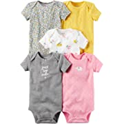Carter's Baby Girls' 5-Pack Bodysuits Newborn