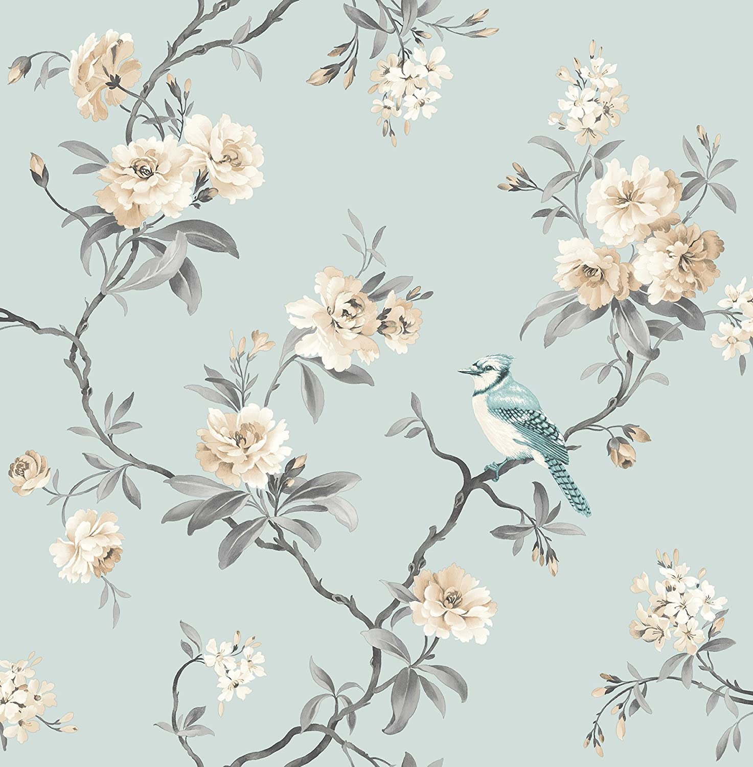 Fine Decor 2900 40765 Chinoiserie Blue Floral Wallpaper