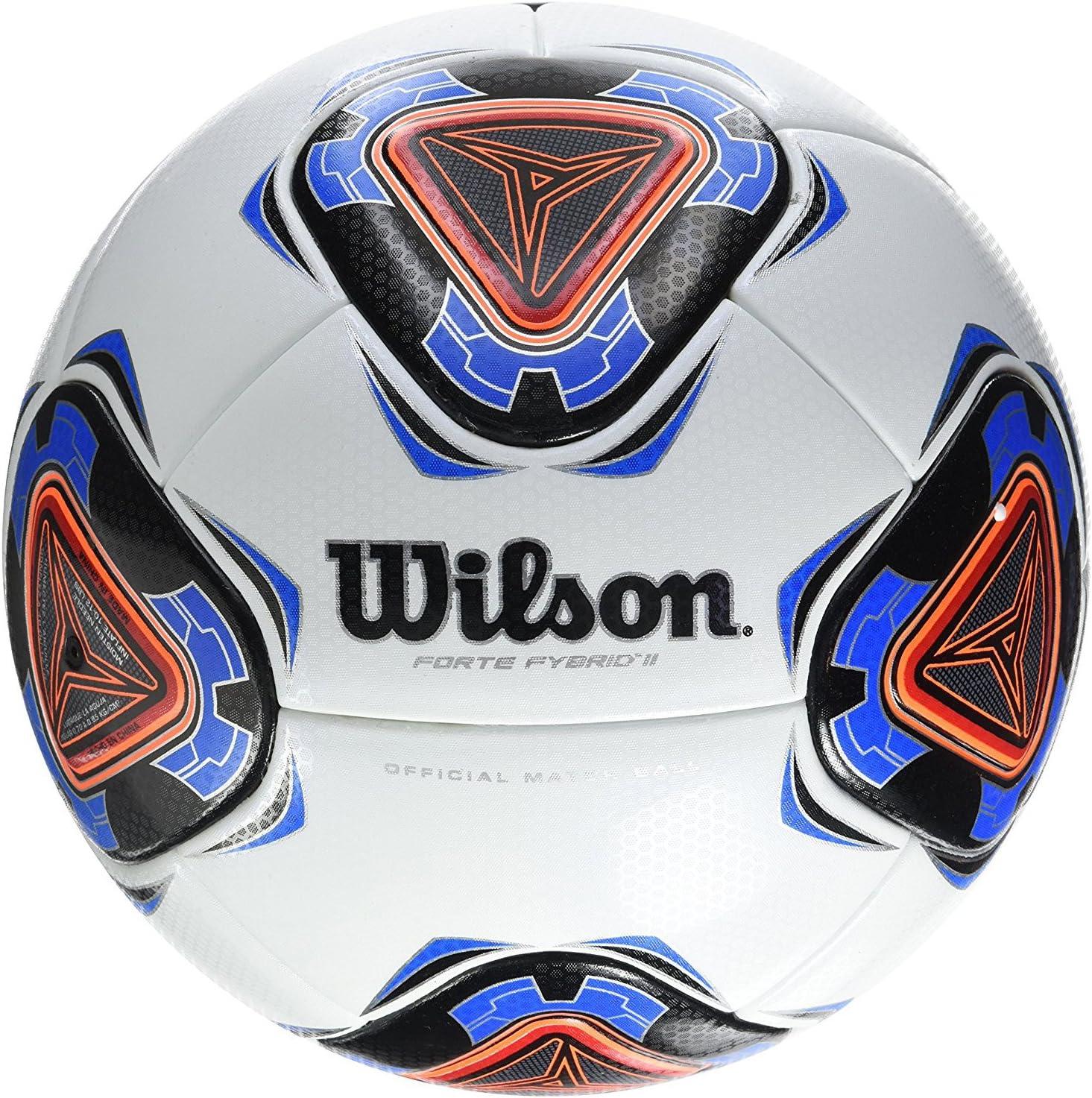 Wilson Forte Fybrid II Pelota De Fútbol, Unisex Adulto, White/Blue ...