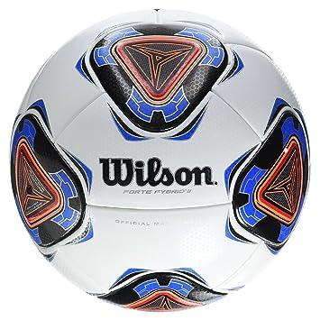 Wilson Forte Fybrid II Pelota De Fútbol, Unisex Adulto, White/Blue, Talla
