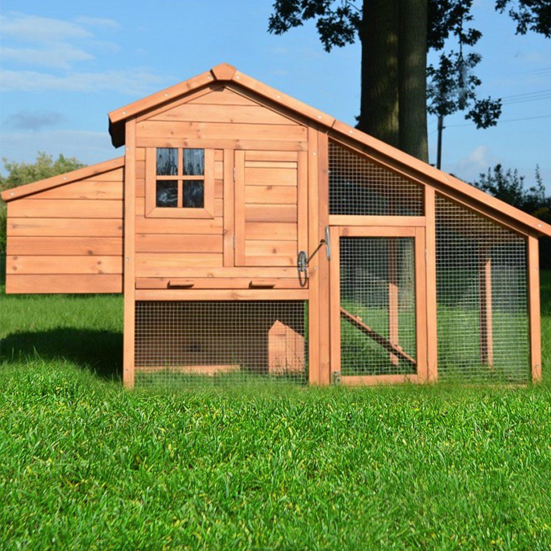 ZooPrimus Hühner-Stall Nr 144 Geflügel-Voliere KOMFORT Enten-Haus für Außenbereich (Geeignet für Kleintiere: Hühner, Geflügel, Vögel, Enten usw.)