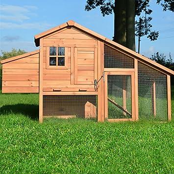 ZooPrimus - Gallinero de madera para aves de corral: Amazon.es: Productos para mascotas