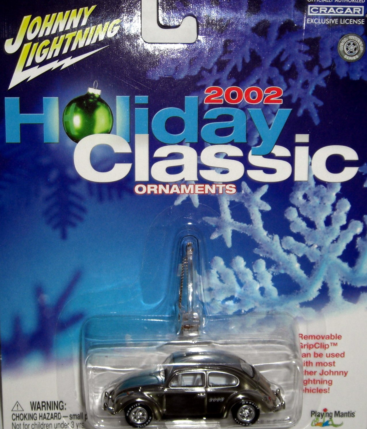 Johnny Lightning 2002 Holiday Classic Ornaments 66 VW Beetle CHROME Playing Mantis