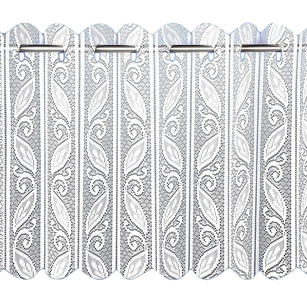 Lace Pleated Vertical Louvre Blind Window Net White 24
